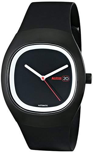 Alessi Unisex-Armbanduhr Analog Quarz Kunststoff schwarz AL21001