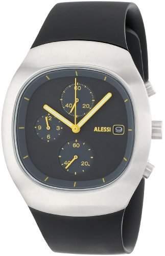 Alessi Unisex-Armbanduhr Chronograph Quarz Kunststoff silber AL21010