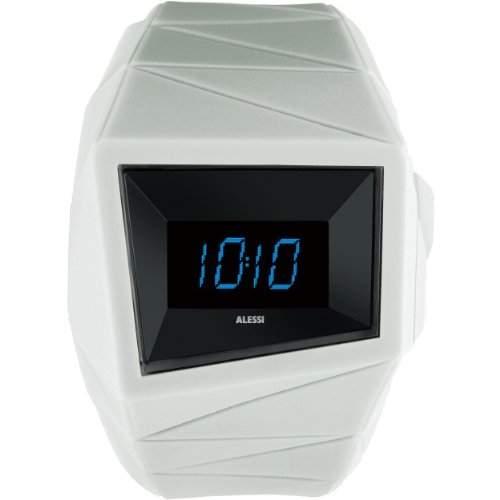 Alessi-al22004-Armbanduhr-Quarz Digital-Armband Kunststoff weiss