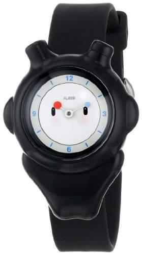 Alessi Kinder-Armbanduhr Analog Quarz Plastik schwarz AL23002