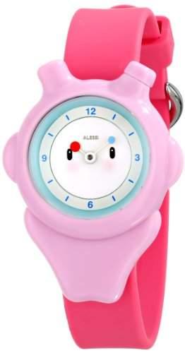 Alessi Kinder-Armbanduhr Analog Quarz Plastik rosa AL23003
