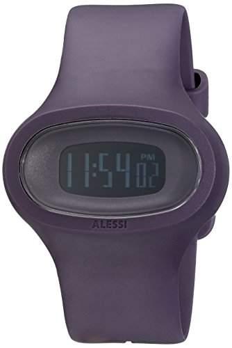 Alessi Unisex-Armbanduhr Digital Quarz Kunststoff violett AL25004
