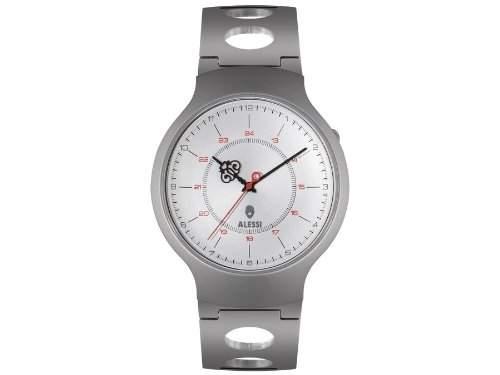 Alessi Damen-Armbanduhr Armband Metall Silber + Gehaeuse Quarz Analog AL27001