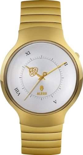 Alessi Unisex-Armbanduhr Analog Edelstahl Gold AL27003 Armband