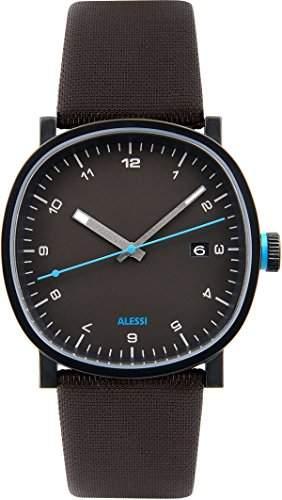 ALESSI Herren-Armbanduhr Analog Quarz Leder AL5041