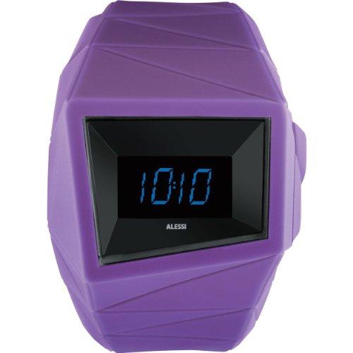 Alessi AL22003 Armbanduhr Quarz Digital Armband Kunststoff violett