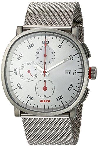 ALESSI Herren Armbanduhr Chronograph Quarz Edelstahl AL5030