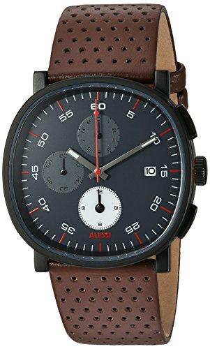 ALESSI Herren Armbanduhr Chronograph Quarz Leder AL5031