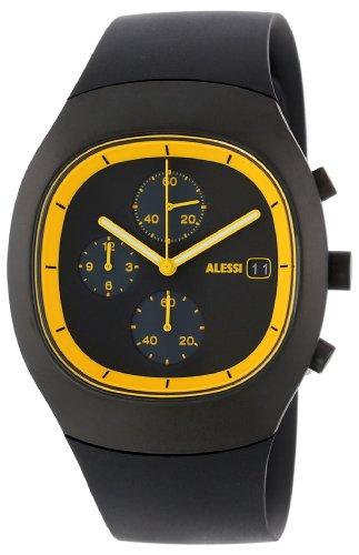 Alessi Unisex Armbanduhr Chronograph Quarz Plastik silber AL21011