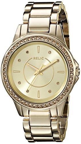 Relic Damen zr12128 Karsen Analog Display Analog Quarz Gold Armbanduhr