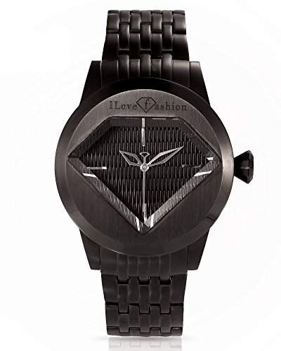 Fashion TV Paris Herren Armbanduhr Markenuhr Diamant Edelstahl Analog Quarz schwarz