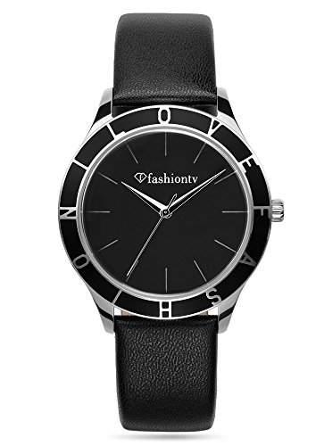 Fashion TV Paris Damen Armbanduhr Markenuhr sportlich elegant Analog Quarz silber schwarz