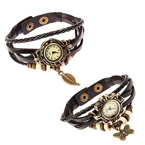 Fantastisches Set Von 2 der Herr Stil der Frauen Uhren Ohrhaenger von fascini fuer Boolavard