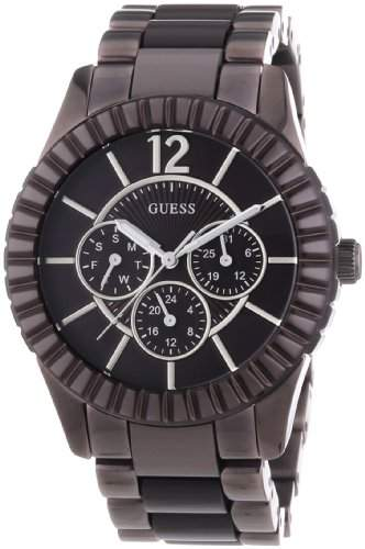 Guess Damen-Armbanduhr Facet Chronograph Quarz verschiedene Materialien W0028L2