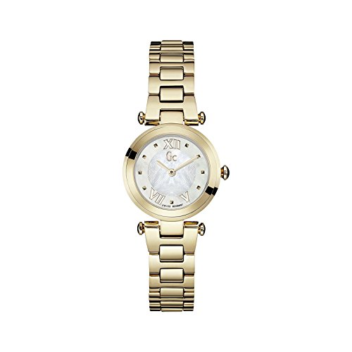 Guess Collection Lady Chic Armband Gold beschichtetes Edelstahl Batterie Analog Y07008L1