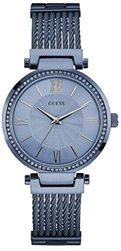 Guess Damen Armbanduhr Analog Quarz Edelstahl W0638L3