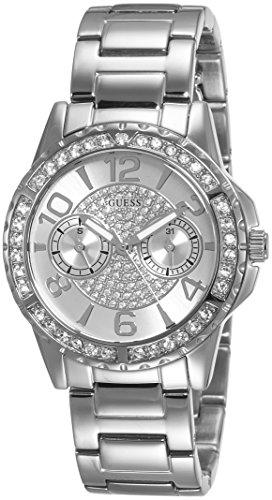Guess Damen Armbanduhr Analog Quarz Edelstahl W0705L1