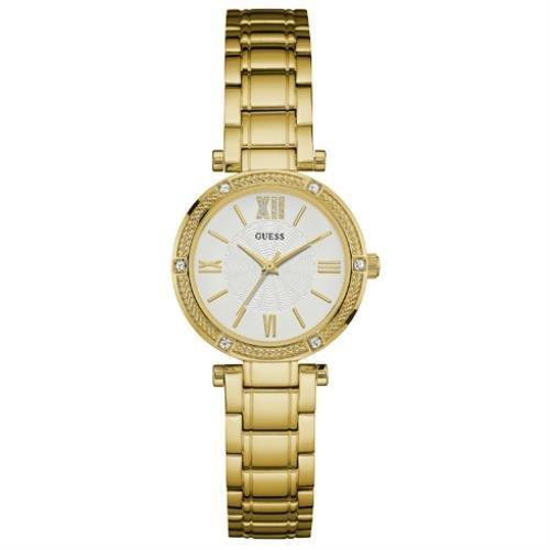 Guess Damen Armbanduhr Analog Quarz Edelstahl W0767L2