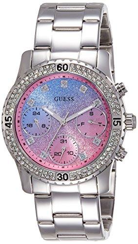 Guess Damen Armbanduhr Analog Quarz Edelstahl W0774L1