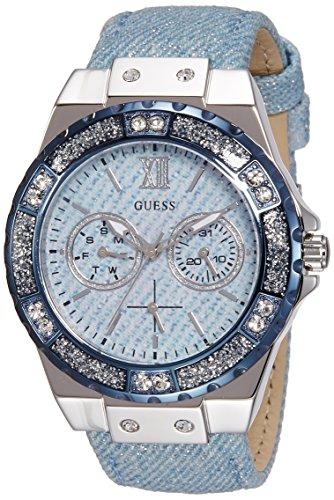 Guess Damen Armbanduhr Analog Quarz Edelstahl W0775L1