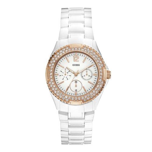 Guess Damen Armbanduhr Analog Quarz Resin W0062L6