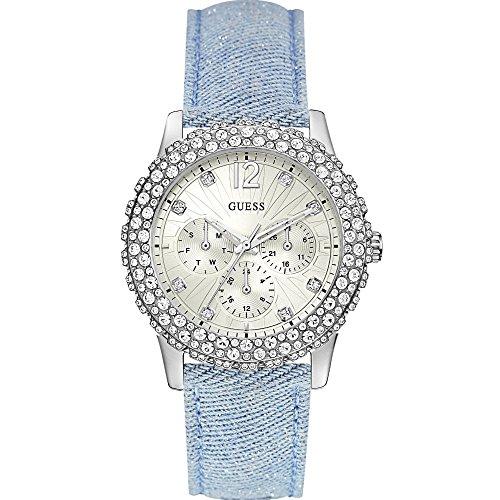 Guess Damen Armbanduhr Analog Quarz Leder W0336L7