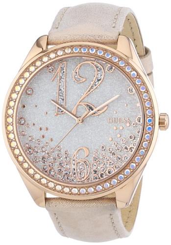 Guess Damen Armbanduhr Analog Quarz Leder W0337L3