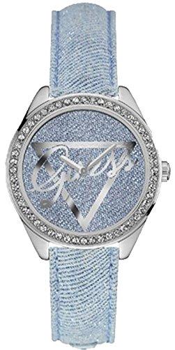 Guess Damen Armbanduhr Analog Quarz Leder W0456L10
