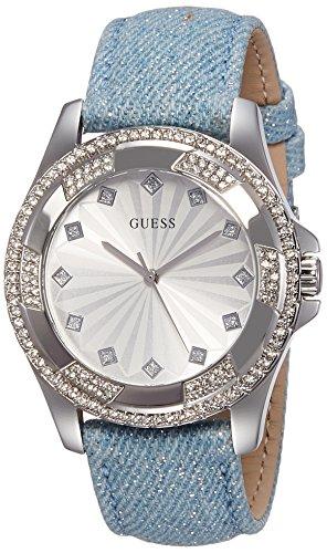 Guess Damen Armbanduhr Analog Quarz Leder W0703L1