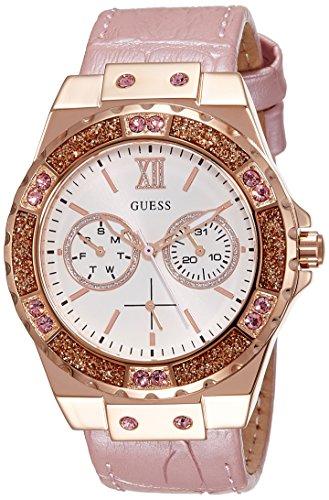 Guess Damen Armbanduhr Analog Quarz Leder W0775L3