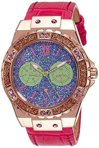 Guess Damen Armbanduhr Analog Quarz Leder W0775L4
