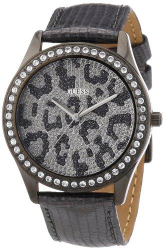 Guess Damen Armbanduhr Analog Quarz Leder W10239L1