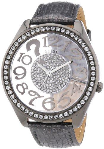 Guess Damen Armbanduhr Analog Quarz Leder W13096L2