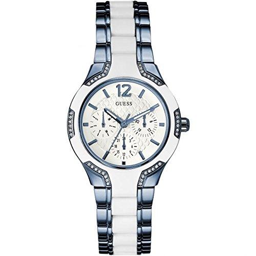Guess Damen Armbanduhr Analog Quarz Silikon W0556L9