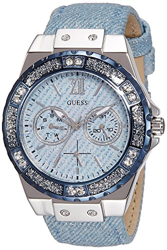 Guess Ladies Sport Analog Quarz Leder W0775L1