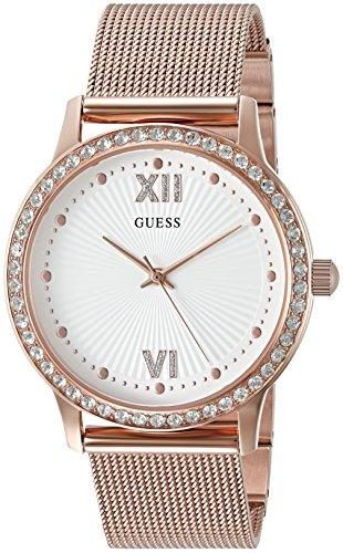 Guess Damen u0766l3 Sleek Rose goldfarbene Uhr mit verstellbare Armbandglieder