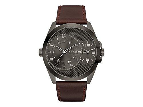 Guess Herren Armbanduhr Analog Quarz Leder W0505G4