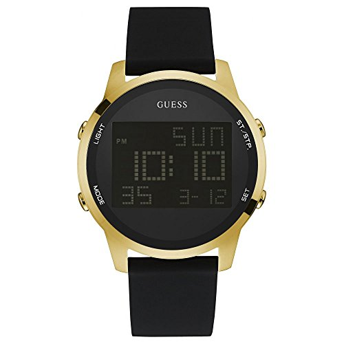 Guess Herren Armbanduhr Analog Quarz Silikon W0787G1