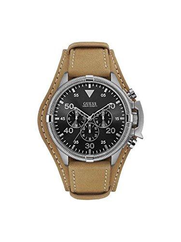 Guess Uhr Uhren Chronograph W0480G4 Rover Leder hellbraun