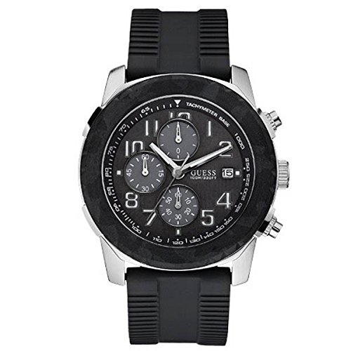 GUESS AXLE MENS STAINLESS STEEL CASE CHRONOGRAPH DATE UHR W14557G1