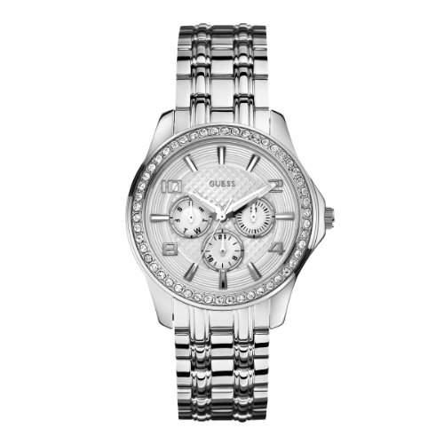 Guess Damen-Armbanduhr Ladies Sport Multifunktion Analog Quarz Edelstahl W0147L1