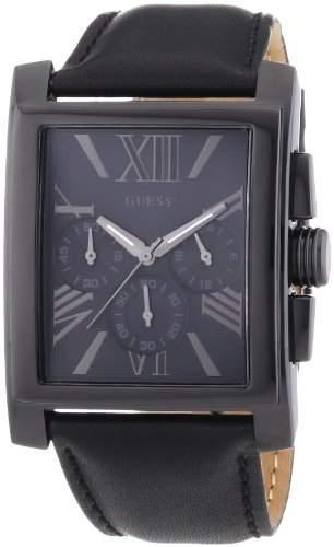 Guess Herren-Armbanduhr Chronograph Quarz Leder W0010G2