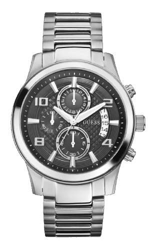 Guess Herren-Armbanduhr Chronograph Quarz Edelstahl W0075G1