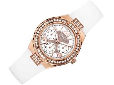 Guess Damen-Armbanduhr Chronograph Quarz Edelstahl W0300L2