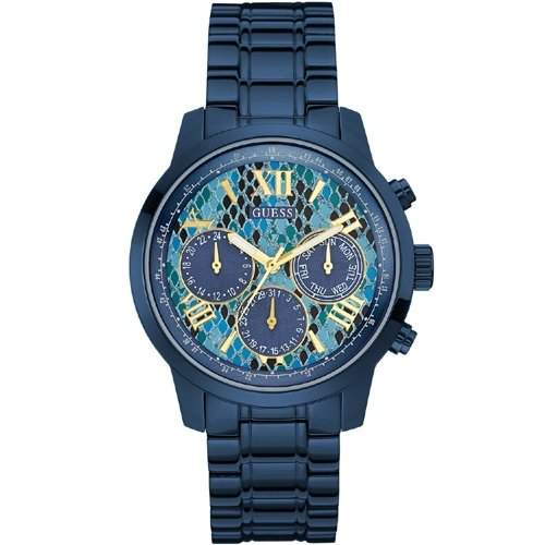 Guess Damen-Armbanduhr Chronograph Quarz Edelstahl W0330L17