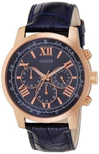 Guess Herren-Armbanduhr Chronograph Quarz Leder W0380G5
