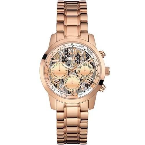 Guess Damen-Armbanduhr Chronograph Quarz Edelstahl W0448L9