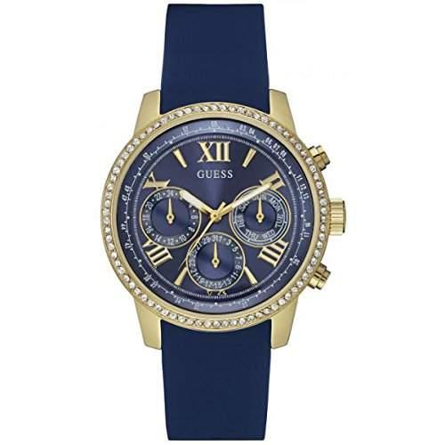 Guess Damen-Armbanduhr Chronograph Quarz Silikon W0616L2