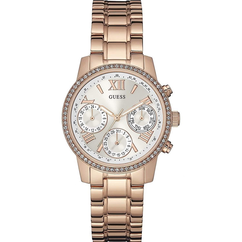 Guess Damen-Armbanduhr Chronograph Quarz Edelstahl W0623L2
