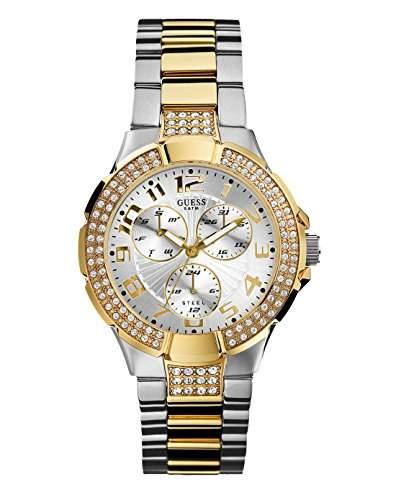 Guess Damen-Armbanduhr Chronograph Quarz Edelstahl W16563L1